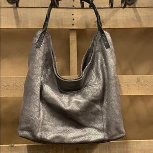 Sondra Roberts Soft Metallic leather shoulder bag
